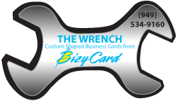 Wrench Shaped Business Cards