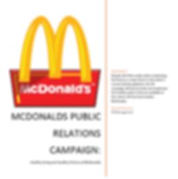 McDonald's Healthy Choices PR Campaign.P