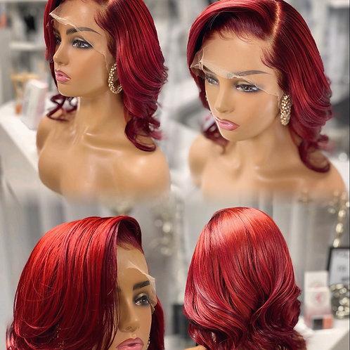 Rhianna Red Bob