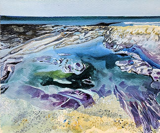 Purple Rocks in Turquoise Pools 3_183705