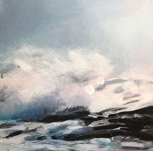 'Big Wave' acrylic on canvas 30x30cm web