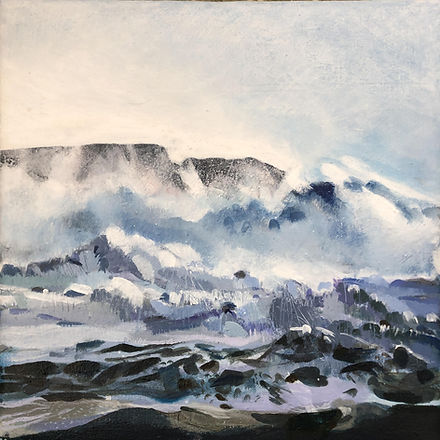 'Storm Dennis Whipping up the sea' acryl