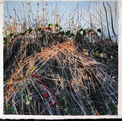 SOLD 'Goosegrass Swags in Winter Hedgerow'