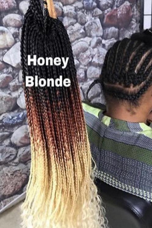 HANDMADE CROCHET GODDESS BOX BRAIDS 26'' COLOR: HONEY BLONDE