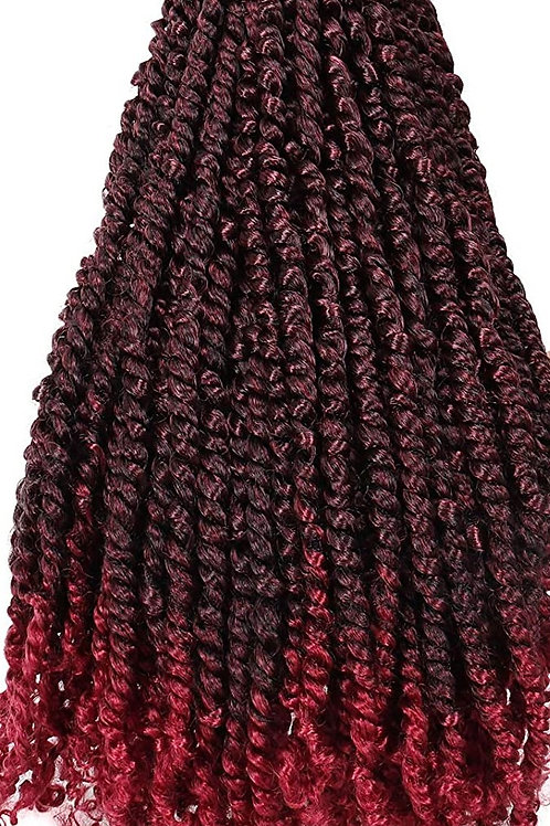 CROCHET PASSION TWIST 24'' COLOR: 1B/BURGUNDY (11 strands per pack)