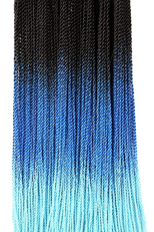 CROCHET SENEGLESE TWIST 24'' COLOR: OCEAN BREEZE(22 strands per pack)