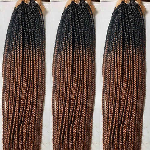 HANDMADE CROCHET BOXBRAID 26'' COLOR: 1B30 (110 BRAIDS)