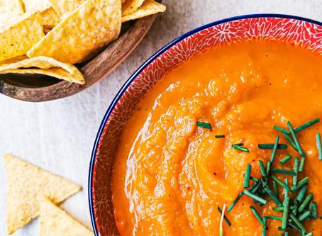 Vegane Kürbissuppe mit Ingwer & Karotte   Gesund, einfach, lecker und wärmend