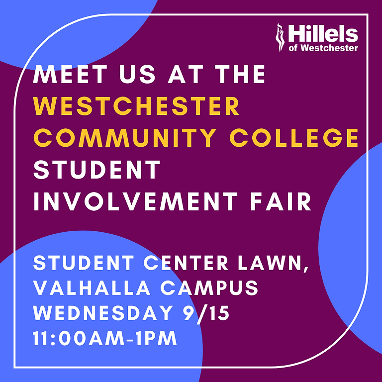 Say Hi at the Westchester Community College Student Involvement Fair!