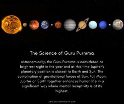 The science of Guru Purnima