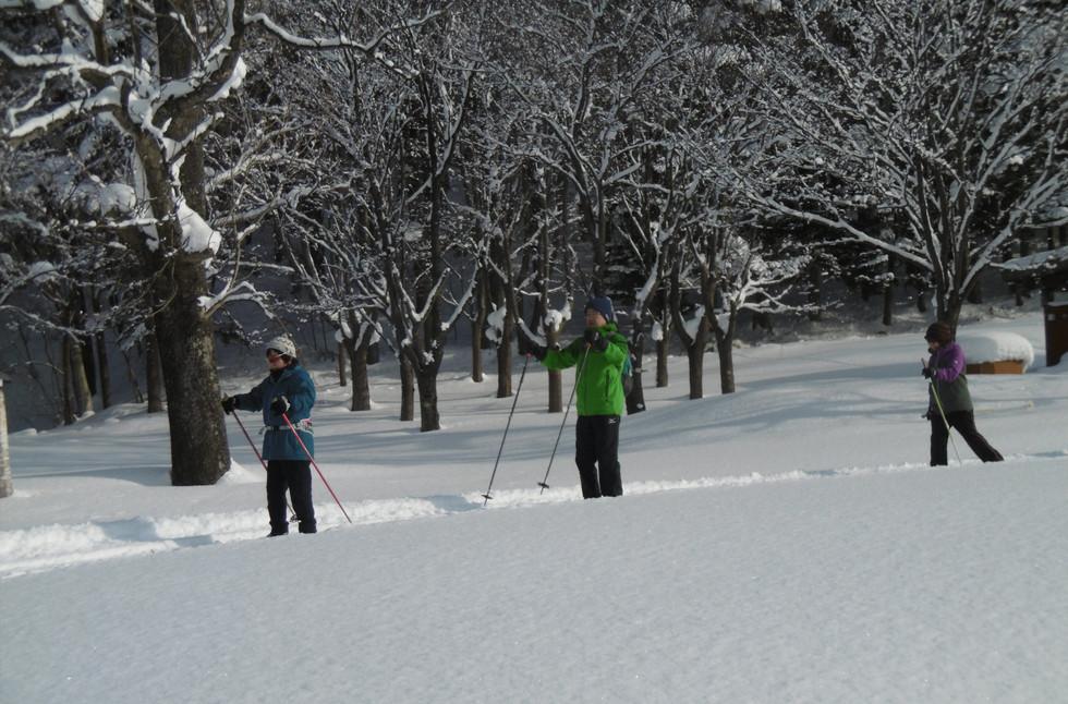 歩くスキーの集いの様子(平成30年度)