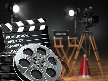 Video, movie, cinema concept. Retro came