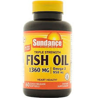 Sundance Triple Strength Fish Oil 1360 mg, 60 Count