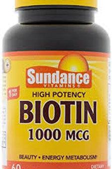 BIOTIN 1000 MCG 60 Tablets