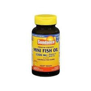 Sundance Vitamins Mini Fish Oil 1300 mg, Natural Lemon Flavor, 60 Each