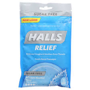 Halls Sugar Free Menthol Cough Drops, 25 ct