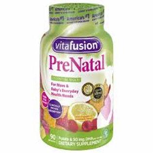 Prenatal Gummy Vitamins Raspberry Lemonade 90 Gummies -Vitafusion
