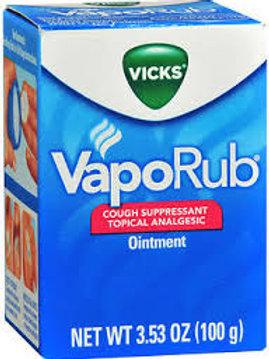 Vicks VapoRub Original Cough Suppressant Topical Analgesic Ointment 3.53 oz