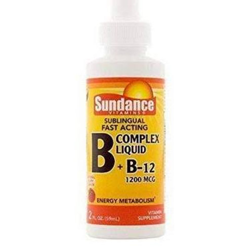 VITAMIN B COMPLEX PLUS B12 LIQUID, 2 OZ