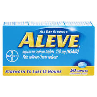 Aleve Caplet, Pain Reliever/Fever Reducer, 50 ct
