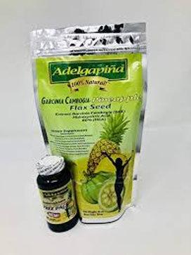 ADELGAPINA FLAX SEED Pineapple and Garcinia CAMBOGIA 16oz
