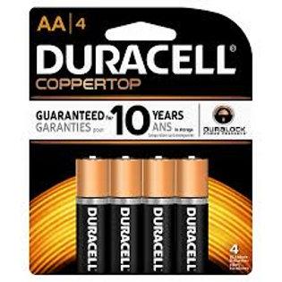 Duracell Alkaline Batteries AA 4ct