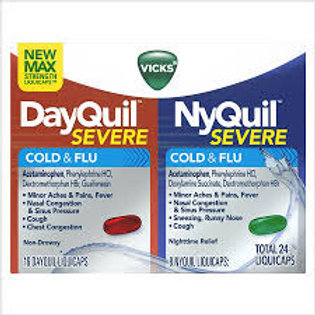 Vicks Dayquil And Nyquil Cold And Flu Relief Liquicaps, Combo Pack -24LIQUICAPS