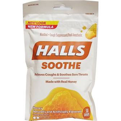 HALLS SOOTHE Honey Naturally and Artificially Flavored 30 Drops