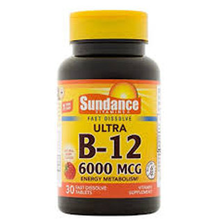 VITAMIN B-12 6000 MCG 30 Tablets