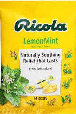 RICOLA THROAT DROPS LEMON MINT 24CT