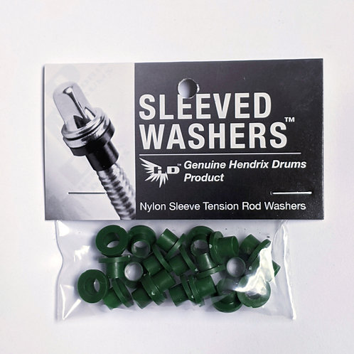 Dark Green Sleeved Washers