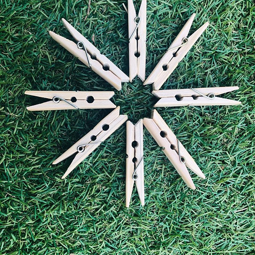 Bamboo Pegs (Pack of 12)