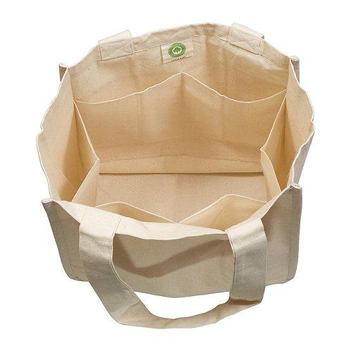 Vegetable Compartment Cloth Bag  (100% Cotton, 200 GSM)