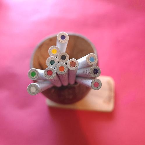 Newspaper Color Pencil Set (12 pencils)