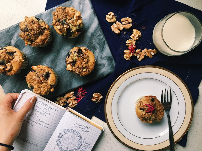 Blueberry Streusel Breakfast Muffins