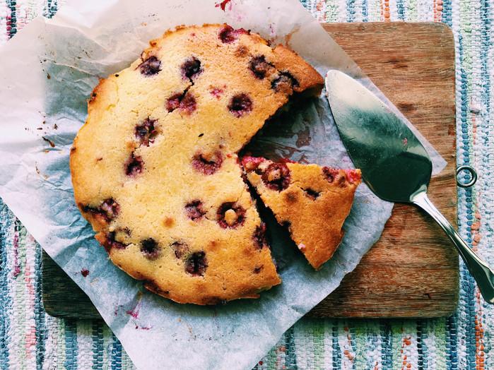 Raspberry Ricotta Cake