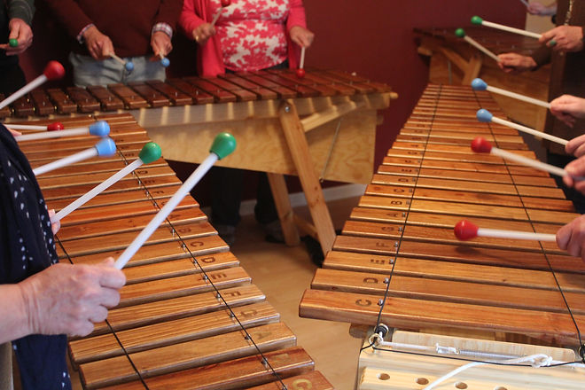 Marimba try out with Worthing Steel Band