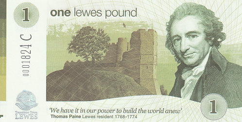 Lewes 2017 L£1 note - Ovesco