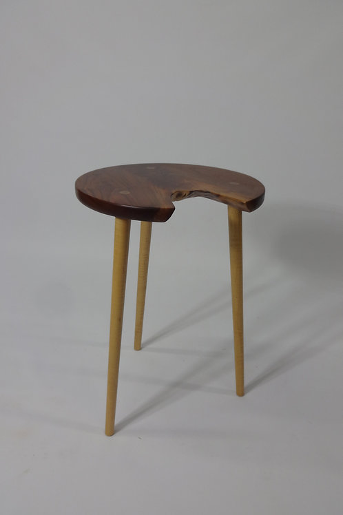Maple and Walnut Joined Side Table