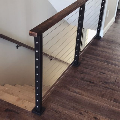 Walnut and Steel Bannister