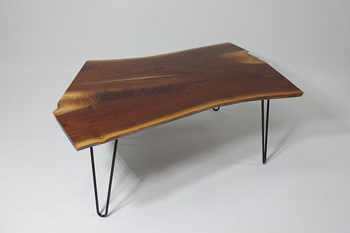 Bookmatched Walnut Coffee Table with Hairpin Legs