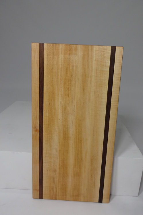Maple Cutting Board with Walnut Stripes (2)