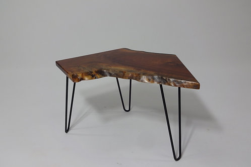 Small Walnut End Table with Hairpin Legs