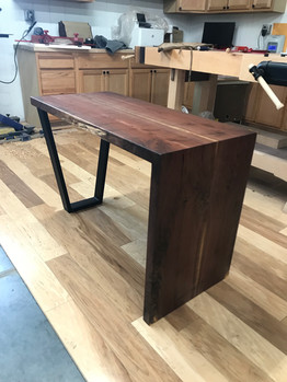 Small Walnut Waterfall Desk