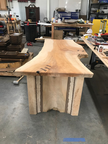 Maple Desk with waterfall edges