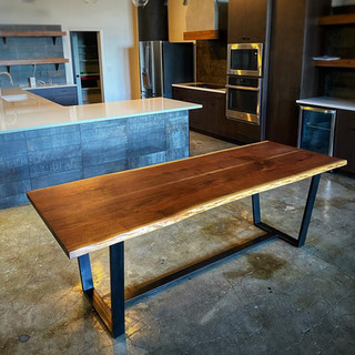 Walnut Bookmatch Dining Table