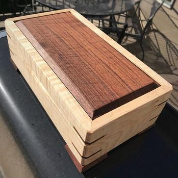 Walnut and Curly Maple Jewelry Box