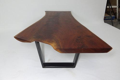 Feathered Walnut Slab Coffee Table