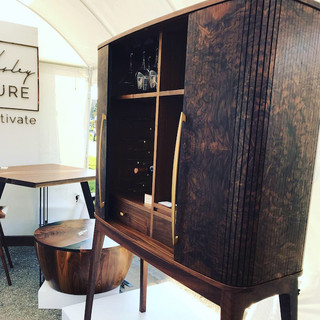 Walnut Burl Wine Cabinet