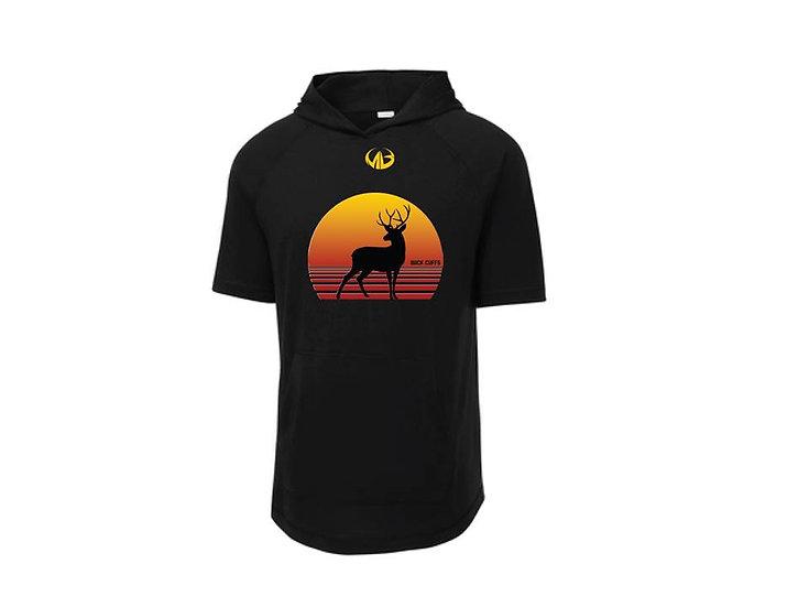 Black Short Sleeve Hoodie- Moneyball Sportswear